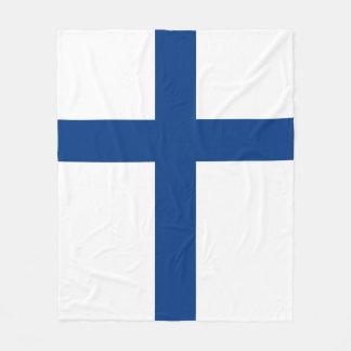 Finland Flag Fleece Blanket