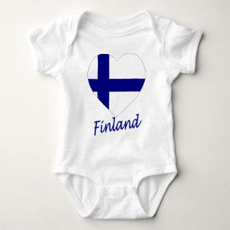 Finland Flag Heart Baby Bodysuit
