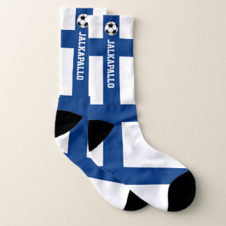 Finland Flag Jalkapallo and Your Text Socks