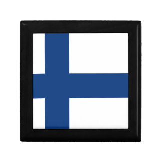 Finland flag jewelry box