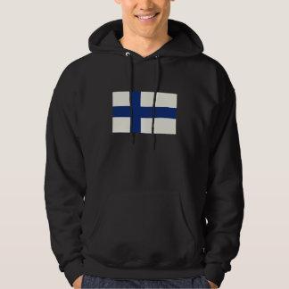 Finland Flag Oil Painting Hoodie