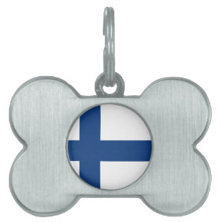 Finland flag pet ID tag
