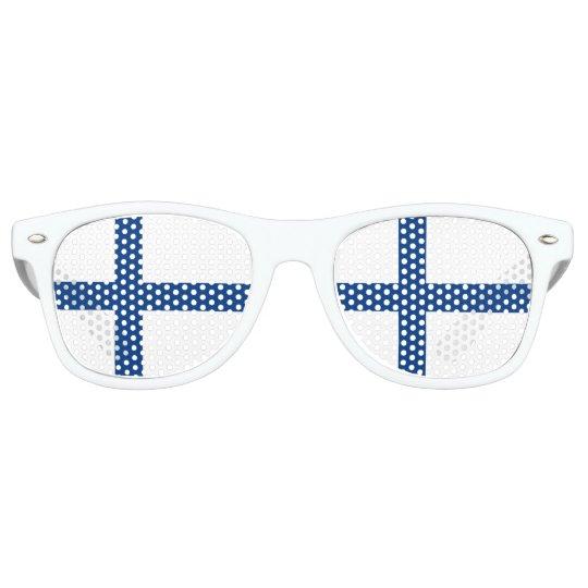 Finland Flag Retro Sunglasses