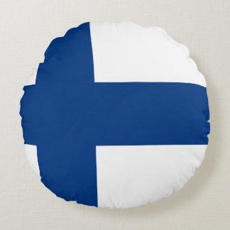 Finland Flag Round Pillow