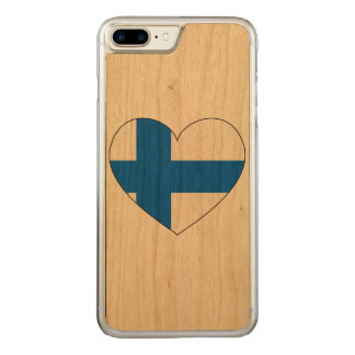 Finland Flag Simple Carved iPhone 8 Plus/7 Plus Case