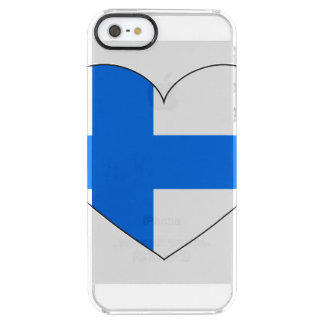 Finland Flag Simple Clear iPhone SE/5/5s Case