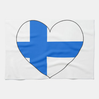 Finland Flag Simple Kitchen Towel