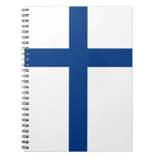 Finland Flag Spiral Notebook
