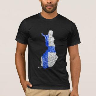 Finland Flagcolor Map T-Shirt
