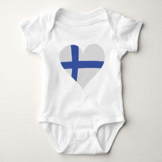 Finland heart icon baby bodysuit