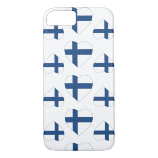 FINLAND HEART SHAPE FLAG iPhone 8/7 CASE
