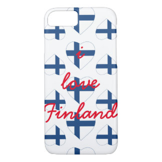 FINLAND HEART SHAPE FLAG iPhone 8/7 CASE