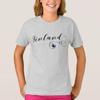 Finland Heart Tee Shirt, Finnish, Finn