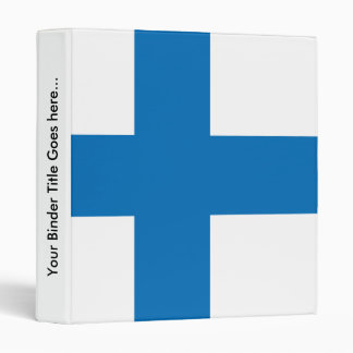 Finland High quality Flag 3 Ring Binder