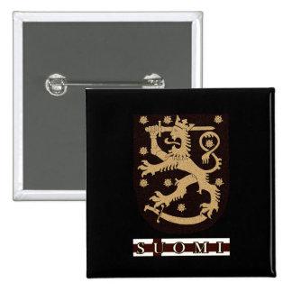 Finland Lion 2 Inch Square Button