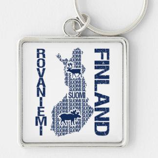 FINLAND MAP key chain - Rovaniemi