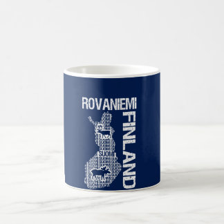 FINLAND MAP mug - Rovaniemi - choose style, color