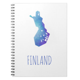 Finland Map Notebook