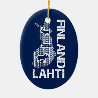 FINLAND MAP ornament - Lahti - customizable
