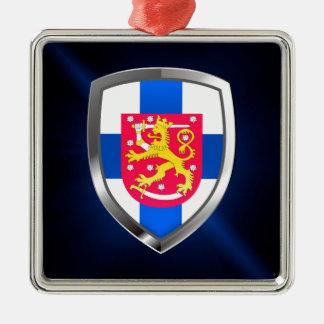 Finland  Metallic Emblem Metal Ornament