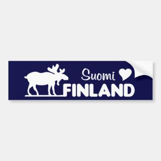 Finland Moose bumpersticker Bumper Sticker