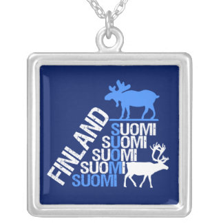 Finland Moose & Reindeer necklace
