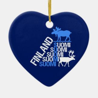 Finland Moose & Reindeer ornament - customize