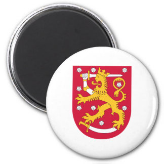 Finland Official Coat Of Arms Heraldry Symbol 2 Inch Round Magnet