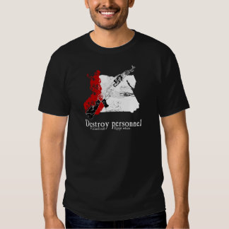 Finland Red, Egypt White Tee Shirt