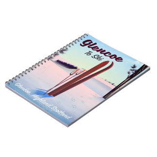 Finland retro vacation 'rainbow' poster print. notebooks