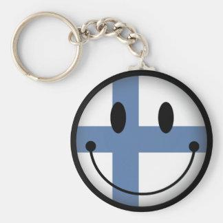 Finland Smiley Keychain