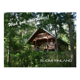 Finland Summer Cottage Postcard