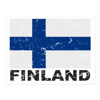 Finland Vintage Flag Postcard