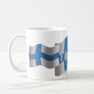 Finland Waving Flag Coffee Mug