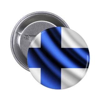 Finland waving flag pinback button