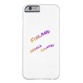 Finland world country, colorful text art barely there iPhone 6 case