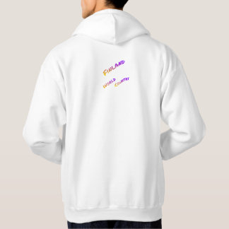 Finland world country, colorful text art hoodie