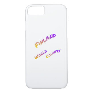 Finland world country, colorful text art iPhone 7 case