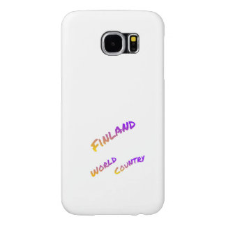 Finland world country, colorful text art samsung galaxy s6 cases