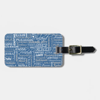 Finland's Towns custom luggage tag