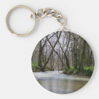 Finley Tranquility In Spring Time Basic Round Button Keychain