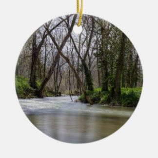 Finley Tranquility In Spring Time Round Ceramic Ornament