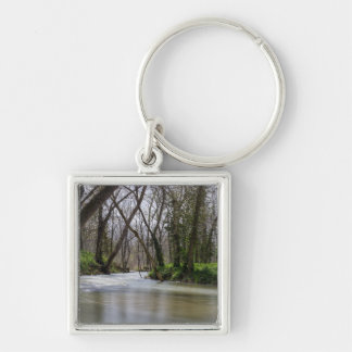 Finley Tranquility In Spring Time Silver-Colored Square Keychain
