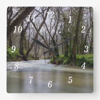Finley Tranquility In Spring Time Square Wall Clock