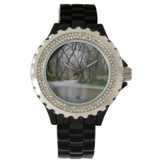 Finley Tranquility In Spring Time Wrist Watch