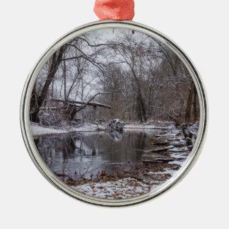 Finley Winter Snow Metal Ornament