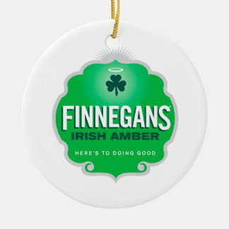 Finnegans Irish Amber Crest Ceramic Ornament