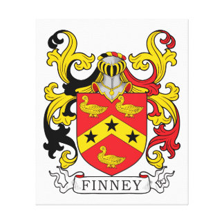Finney Family Crest Canvas Print