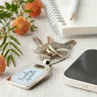 Finnish American Entwined Hearts Keyring