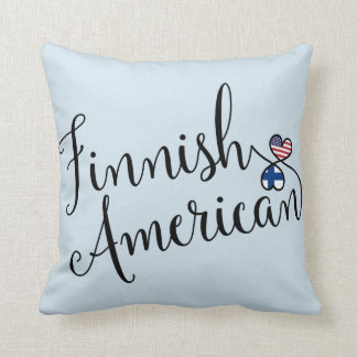 Finnish American Entwined Hearts Throw Cushion